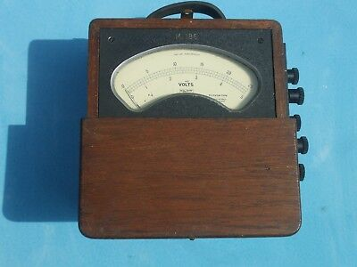 antique railway volt meter