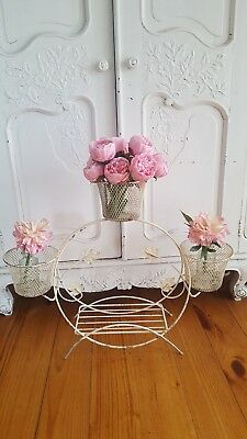 Vintage metal retro pot planter stand shabby chic french wedding florist display