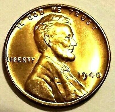 1945 S Lincoln Wheat 1c~CHOICE BU//RD from OBW roll ms+.99 SHIPS