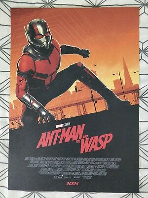 Marvel Ant-Man And The Wasp ODEON A4 Sized Poster 1 (Antman Ant Man)