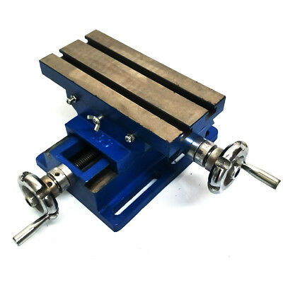 """4"""" 100mm Cross Feed 2 Way Work Bench Cast Iron Sliding Table Milling Drilling"""