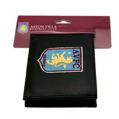 Aston Villa FC Embroidered PU Leather Money Wallet Club Crest Purse Gift Xmas