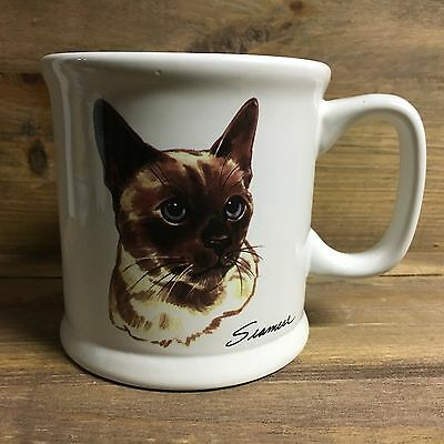 "Siamese Cat Picture & Information 4"" Tall Ceramic Coffee Mug Free S/h"