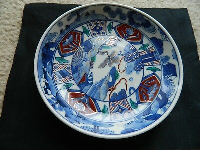 Antique (19th Century ?) Chinese/Japanese hand painted porcelain/ceramic plate.