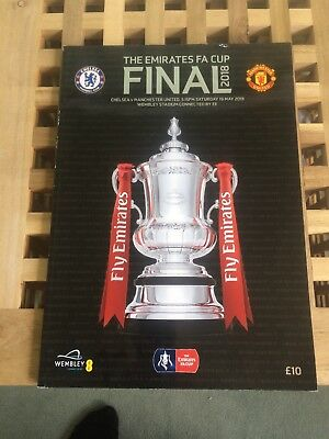 F A CUP FINAL 2018  CHELSEA v MAN UTD MINT PROGRAMME MANCHESTER UNITED
