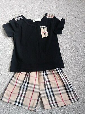 Boys Shorts & T Shirt Set Burberry Print