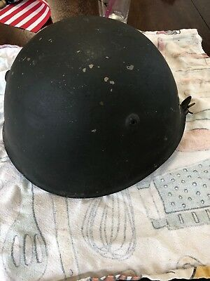 Italian Infantry Helmet With Leather Strapping