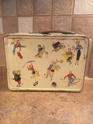 Antique Metal Lunchbox From The Ohio Art Company, Bryan Ohio