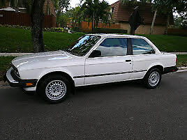1984 BMW Other  bmw 318i 1984 white / burgundy leather interior (Good Condition)