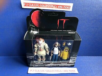 It Movie Pennywise, Bill & Georgie Figure 3-Pack Funko Horror New!