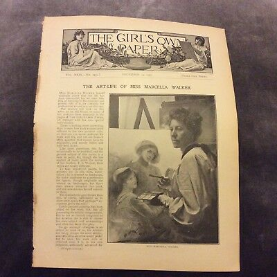 Antique Book Print - The Art-Life of Miss Marcella Walker - 1907