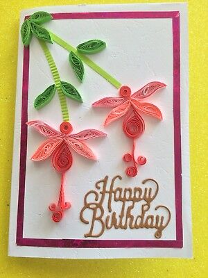 Handmade Paper Quilling Greeting Card For The Happy Birthday 550