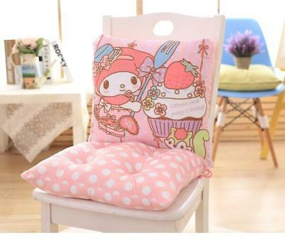 Super Cute Soft My Melody Waist Back Cushion Pillow + Office Home Seat Cushion