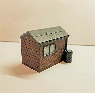 Model Scenery 3D Print  'garden Shed' 'n' Gauge Hand Painted By Kim  £4.99
