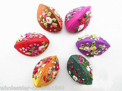 10PCS Multicolor Chinese style Handmade Silk Jewelry Ring Box Bag Coin Bag Purse