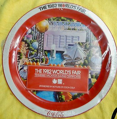 World's Fair Coca-Cola Souvenir Tin Plate 1982 Knoxville, Tennessee  Sealed