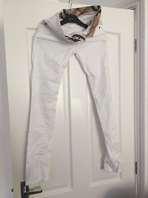 Kids Burberry Jeans White Age 12