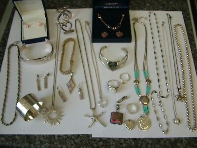Sterling 925 Silver and Jewellery Joblot for Scrap Wear or Repair