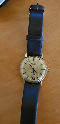 Vintage Mens 1970s Rotary Gold Plated Watch - Hand Winding