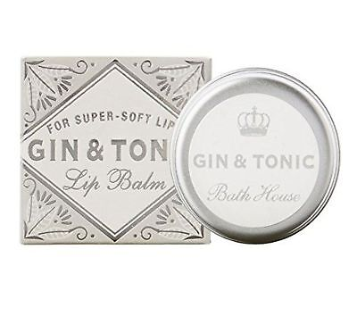 Bath House Cocktail Collection Gin & Tonic Lip Balm Silver & White Packaging