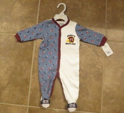c749dc1585 NEW BABY GEAR Brand Baby Boys One Piece Footed Sleeper size 0-3 or 3 ...