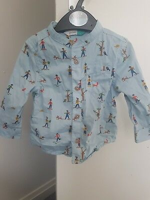 John Lewis Baby Boy baby blue Shirt, Size 6-9 Months only worn once!!!