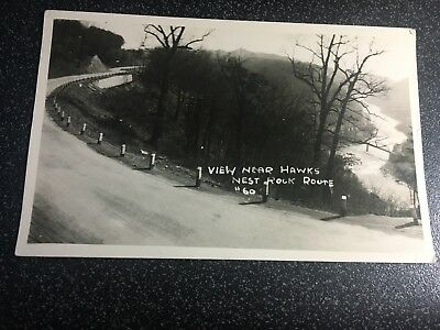Vintage Rppc - View Near Hawks Nest Rock, Rt 60, Wv