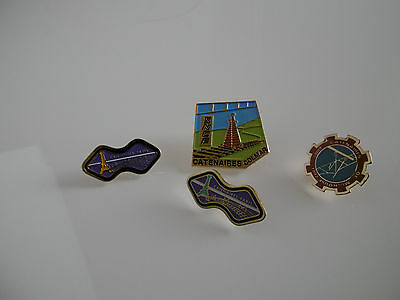 Pin's Sncf: Lot De 4, Brigade Equipement Catenaires: Paris, Colmar, Mulhouse