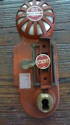 BEST Exit Lock Fire Alarm Model B Vintage Firefighting Bell Display Decor
