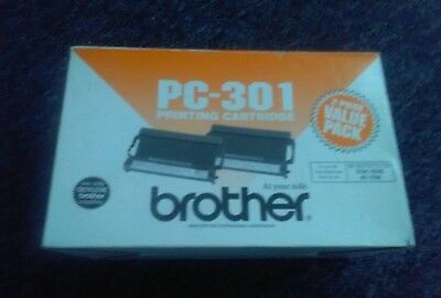 2-Pack New Genuine Brother PC-301 FAX Printing Cartridges    ~ LQQK~