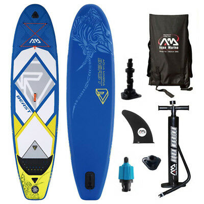 BEAST SUP Stand Up Paddle Board Inflatable Surfbrett Paddel Boot Rucksack