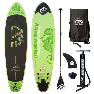 BREEZE SUP Stand Up Paddle Board Inflatable Surfbrett Paddel Boot Rucksack