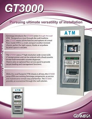 Perfect Through The Wall GenMega gt3000 ATM with stand and 2k Cassette