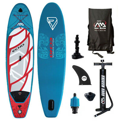 ECHO SUP Stand Up Paddle Board Inflatable Surfbrett Paddel Boot Rucksack