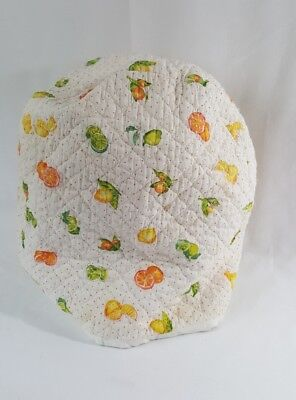Vintage Quilted Kitchen Appliance Cover Fruits Polka Dot Mixer Cover Stains