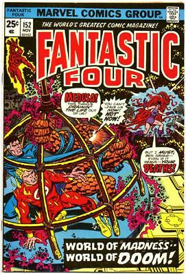 Fantastic Four 152 Hi Grade Rich Buckler Jim Mooney Marvel Bronze Age 1974 Nr!!