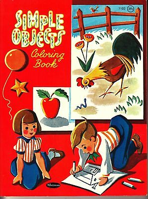 SIMPLE OBJECTS COLORING Book Nancy Hilboldt 1961 1960s ...