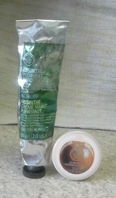 The Body Shop Absinthe Purifying Hand Cream 30ml & Shea Lip Butter 10ml~Both New