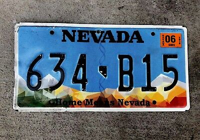 """Nevada License Plate, 2017 Last  Version """" HOME MEANS NEVADA"""""""