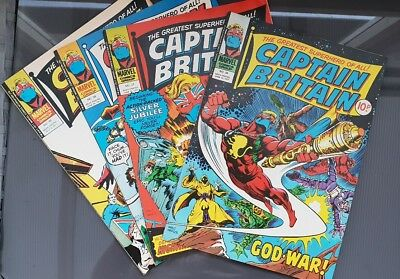 Captain Britain Issues 36, 37, 38 and 39 MARVEL UK COMICS 1977