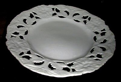 Antik: Durchbruchteller Jugendstil PorzellanTeller weiß - Antique Lattice Plate