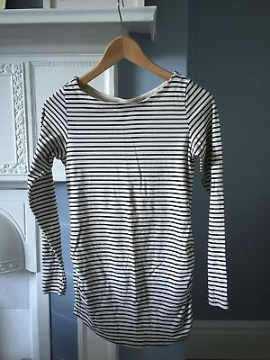 H&M Mama Striped Stretch medium sized Maternity Top in excellent condition