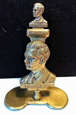 VTG KING EDWARD VIII 1936 Brass Letter Opener & Holder Marked 20505 Duke Windsor