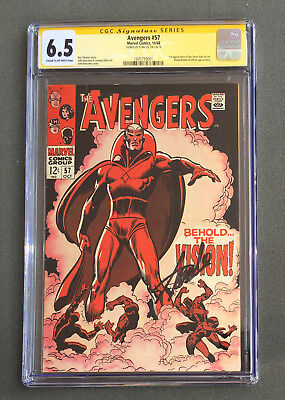 CGC 6.5 SS Stan Lee Signature Series The Avengers # 57 1st Vision Buscema Ultron
