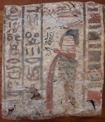 Antique Egyptian Ptolemaic Wood Panel