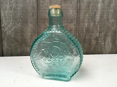 Clevenger Glass Works Bottle Bank Blue Glass Claremount, Newpshire GB29
