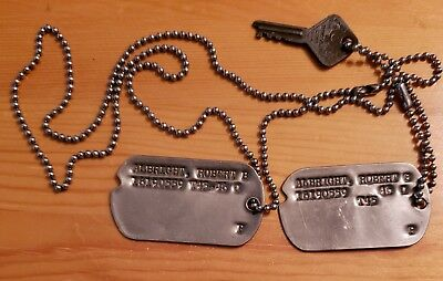 WW2 WWII US Dog Tag Pair Tags