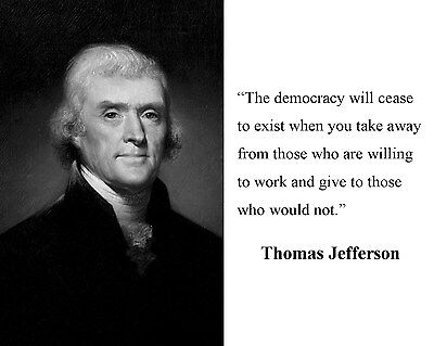 President Thomas Jefferson Founding Fathers  Quote 8 x 10 Photo Picture #bc1