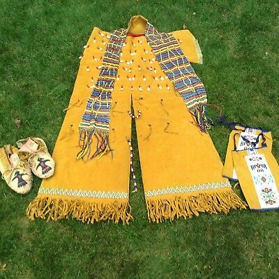 Vintage Native American Beaded Indian Ceremonial Costume/one Size