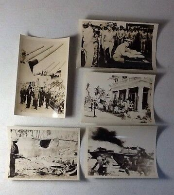 Lot of 36 WWII Photos, Atrocities, Battlefield Dead Bodies, MacArthur, Surrender